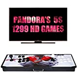 【1299 Games IN 1】 Arcade Game Console Ultra Slim Metal Double Stick 1299 Classic Arcade Game Machine 2 Players Pandoras Box 5S 1280X720 Full HD Video Game Console For Computer & Projector & TV