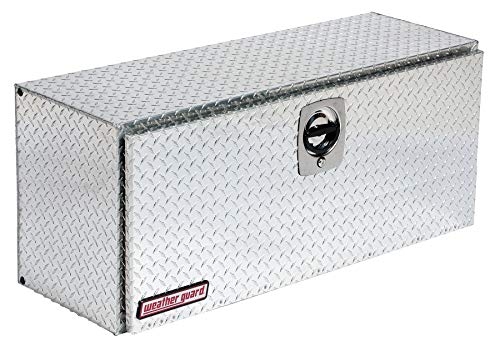Wg Truck Aluminum Diamond Plate Topside Truck Box, Silver, Single, 7.7 cu. ft. - 347-0-02