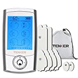 TENKER Rechargeable EMS TENS Unit, Muscle Stimulator Pain Reliever for Muscle Stiffness, Soreness, Aches and Pains, Perfect for Relaxation