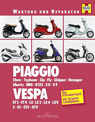Piaggio / Vespa: Sfera, Typhoon, Zip, Fly, Skipper, Hexagon, Liberty, NRG, B125, X8, X9 / ET2, ET4, LX, GT