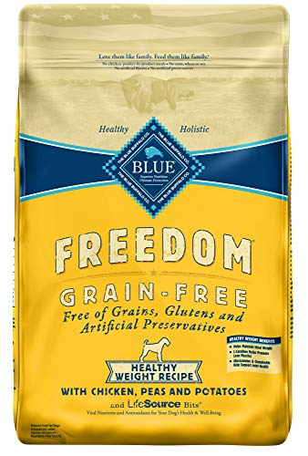 Blue Buffalo Freedom Grain Free Recipe for Dog, Healthy Weight Chicken Recipe, 24 lb (Healthy Buffalo Blue)