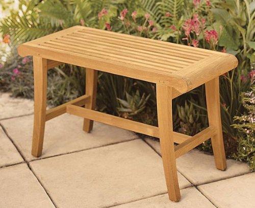 WholesaleTeak New Grade A Teak Wood Luxurious Outdoor Garden Bath Stool/Occasional Bench #WHBHOC