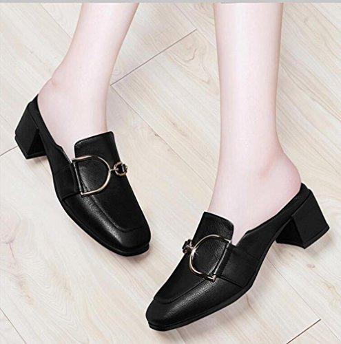 Rugueux Chaussures Avec Cuir Pour Femmes slip Noir New Anti En Tte Fashion Impermables gqpfYHg