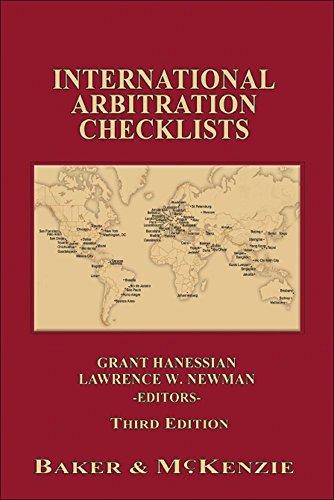 International Arbitration Checklists Third Edition