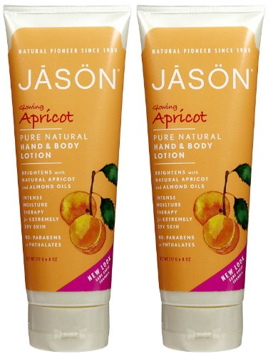 Jason Pure Natural Hand & Body Lotion - Apricot - 8 oz - 2 - Lotion Apricot