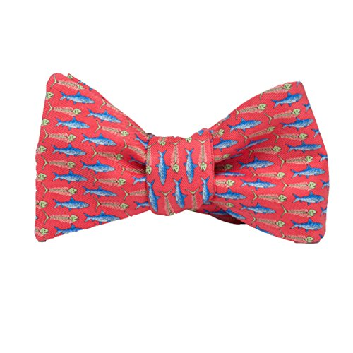 (Peter-Blair Men's Red Bonefish 100% Silk Bow Tie Handmade in USA (39BRF2BT))