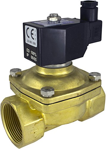 12v DC 25mm 1 NPT Normally Open Brass NBR 2-Way Solenoid Valve Duda Diesel 2W25025KN:12v
