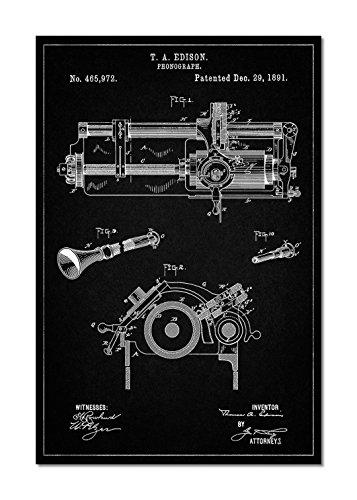 Edison Phonograph Patent Canvas