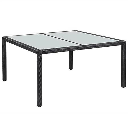 Résine mewmewcat de à Table tressée Table 150 Manger Jardin m08wnN