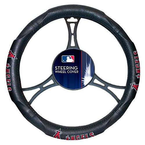 The Northwest Company Los Angeles Angels MLB Steering Wheel Cover (14.5X14.5)