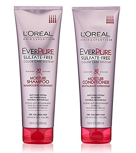 Long Lasting Hydrating Creamy (L'Oreal Paris EverPure Sulfate-Free Color Care System Moisture, DUO set Shampoo + Conditioner)