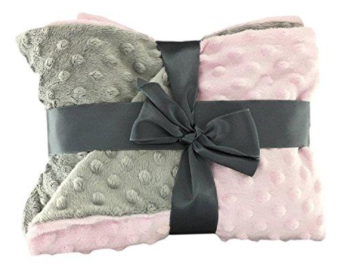minky dot baby blanket double