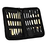 BQLZR Ceramic Clay Pottery Tools Sculpting Kit Set For Drilling Hole Carving Pack Of 14