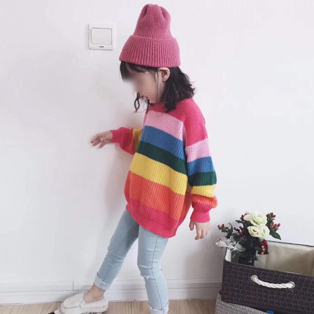 BCVHGD Rainbow Children Knitwear Autumn Winter Baby Girl Clothes Outerwear Kids Pullover Tops Girls Sweater