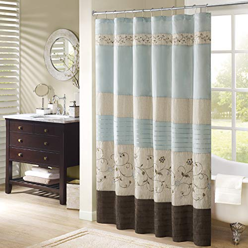 blue and brown shower curtain - 6