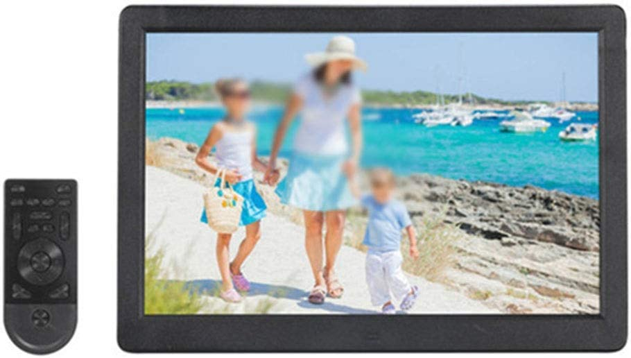HANXIAODONG Double Screen 15 Inch Digital Photo Frame 1280800 Pixels 1080P HD Video Playback LED Screen USB and SD Card Slots Color : Black, Size : 15inch