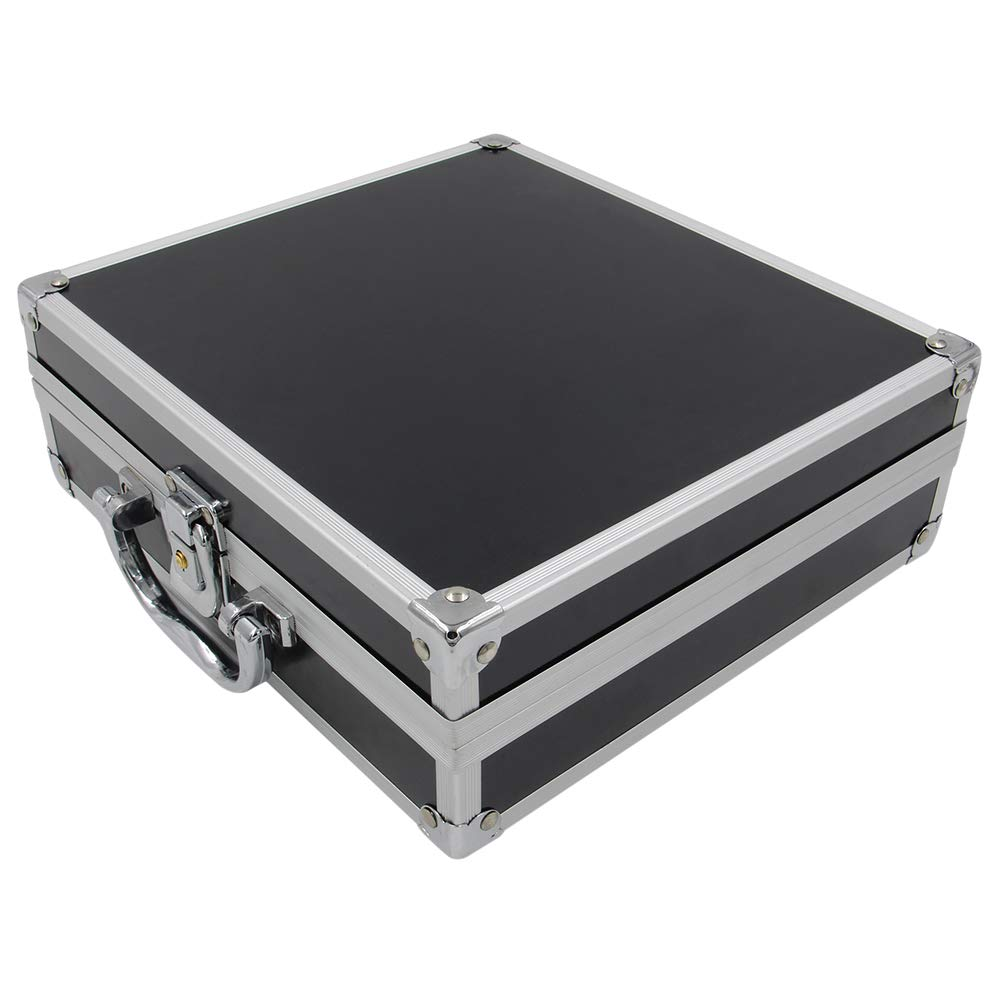 23.5x21.5x8cm Tattoo Kit Case Yuelong Small Tattoo Machine Case Box Aluminum Tool Box Makeup Carry Box Storage Case with Sponge for Tattoo Equipment Microblading supplies