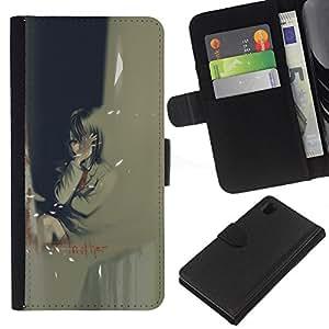 JackGot ( Otro ) Sony Xperia Z1 L39 la tarjeta de Crédito Slots PU Funda de cuero Monedero caso cubierta de piel