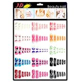 press on toenails - Xxshop 180 pcs Colorful Mixed TOE False Nails / 3D Nail Art Tips