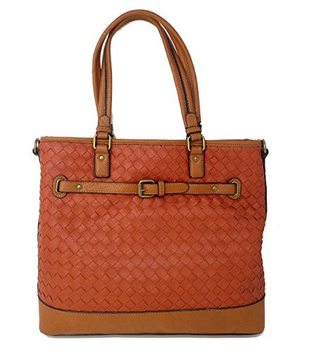 - Simply Noelle Over Under Basketweave Tote in Harvest