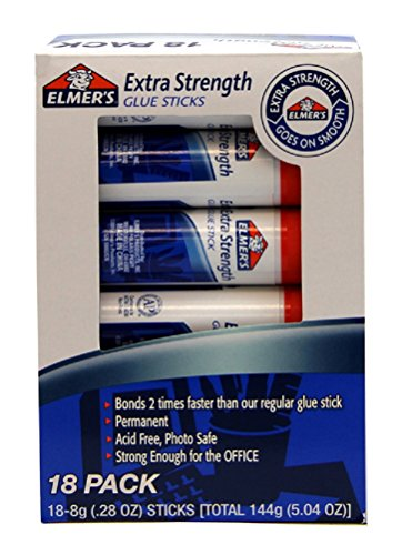 (Elmer's Extra Strength Office Glue Sticks, 0.28 Ounces Each, White, 18 Sticks per)