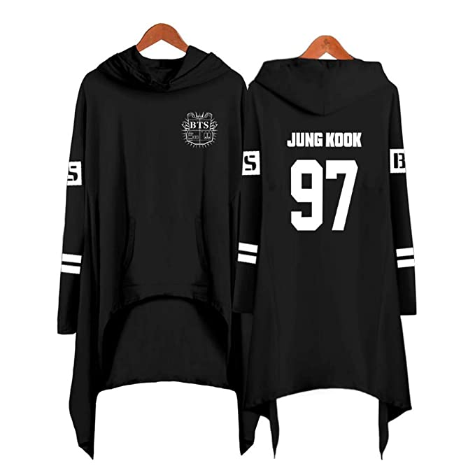 Forever Younger KPOP Bangtan Boys BTS Sudadera con Capucha Impresión de Letras Sudaderas con Capucha Vestido de Fiesta Noche Outwear Jimin Suga Jungkook Rap ...