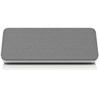 Philips Wireless speaker SBT300WHI/37 - Altavoces portátiles (4 W, Wired & Wireless, Bluetooth, A2DP,AVRCP,HFP,HSP, 393.7 (10 m), Silver)