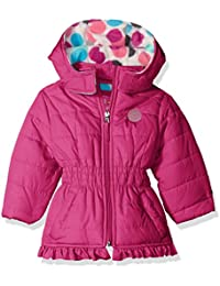 Baby Girls' Infant Puffer Jacket With Big Dots Print Lining