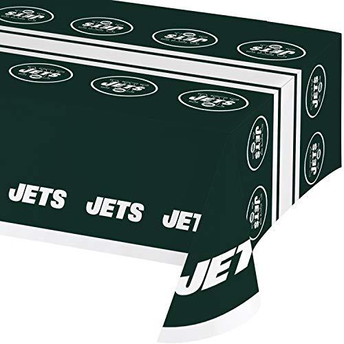 New York Jets Plastic Tablecloths, 3 ct