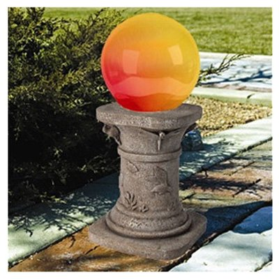 Glass Solar Gazing Ball by Smart Solar