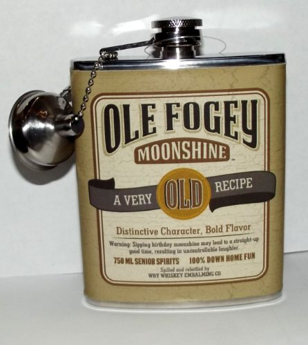 Laid Back CF1304 Ole Fogey Birthday Spirit Flask, 7-Ounce ()