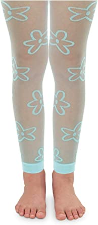 Jefferies Socks Daisy Lace Edge Footless Tight