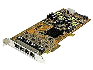 Amazon StarTech 4 Port Gigabit Power Ethernet PCIe Network