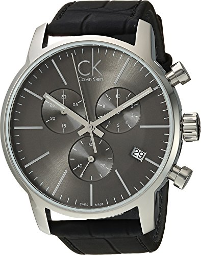 Calvin Klein  Men's City Watch - K2G271C3 Cool Grey/Black One Size by Calvin Klein