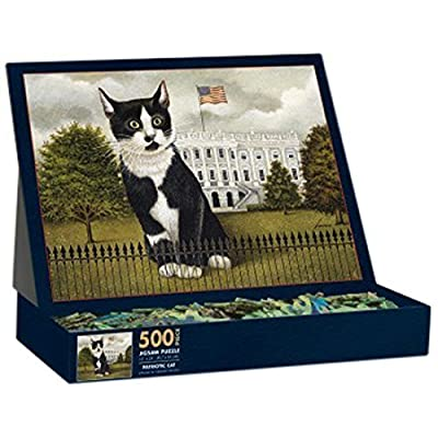 Lang Patriotic Cat By Lowell Herrero Puzzle 500 Piece By Perfect Timing Puzzles