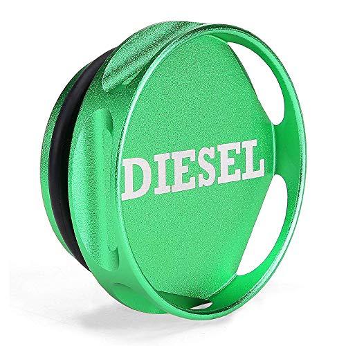 INCART Magnetic Ram Diesel Billet Aluminum Fuel Cap for 2013-2018 Dodge Ram Truck 1500 2500 3500 with 6.7 CUMMINS EcoDiesel, New Easy Grip Design (Green)