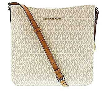 Michael Kors Jet Set Travel Large Messenger Bag (Vanilla)
