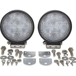 ironton round led work lights 2 pk 1 200 lumens 6. Black Bedroom Furniture Sets. Home Design Ideas