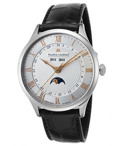 Maurice Lacroix Masterpiece Tradition Men's Moonphase Automatic Watch MP6607-SS001-111