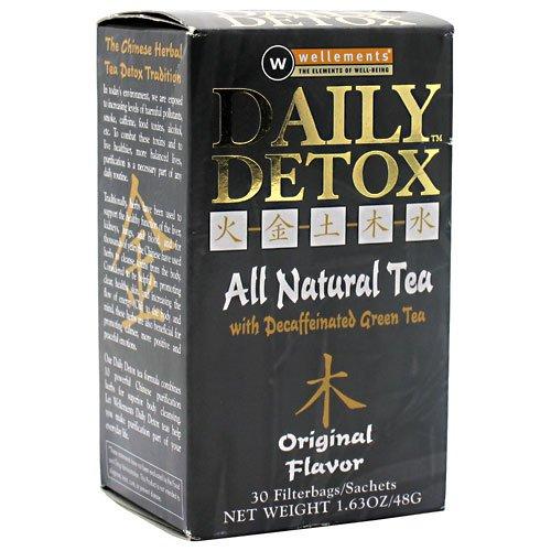 Daily Detox All Natural Tea, Decaffeinated Original Green Tea, 30 Count