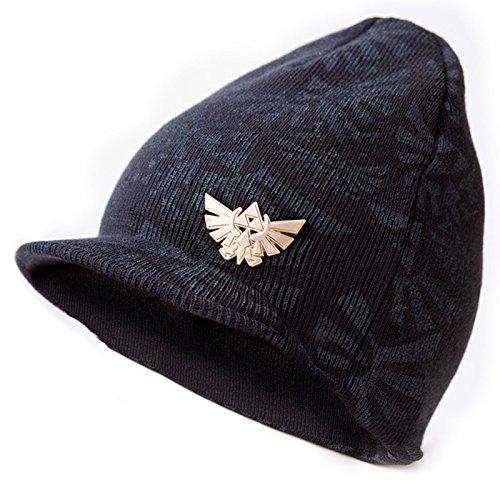 Nintendo Zelda Triforce Black Billed Beanie Hat