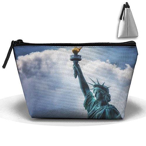 Makeup Bag Trapezoidal Storage Bag Statue Light Liberty Port