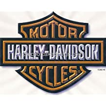 "6"" Round Harley logo Edible Image Cake Topper Decoration"