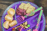Constructive Eating Garden Fairy Combo with Utensil Set and Plate for Toddlers, Infants, Babies and Kids - Flatware Toys are Made in the USA with FDA Approved Materials for Safe and Fun Eating