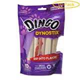 Dingo Dynostix Meat & Rawhide Chew 5'' (10 Pack) - Pack of 10