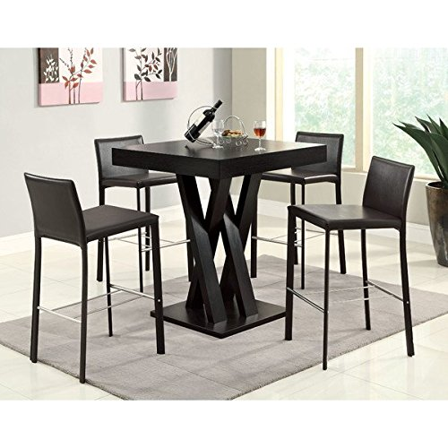 New Sleek Traditiional Modern Luxury Millennium Square Park Cappuccino Finish Dining Table