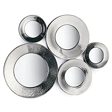 Torre & Tagus 901521A Surya Multi Frame Wall Mirror, Silver
