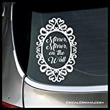 Mirror Mirror On the Wall, Evil Queen Regina, SMALL Vinyl Decal | Once Upon A Time OUAT Snow White Storybrooke Emma Swan Regina Captain Hook ABC | Cars Trucks Laptops Cups Tumblers Mugs | Made in USA