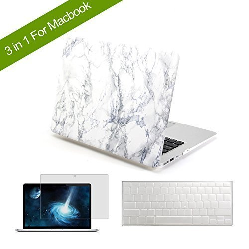 innovative design 6a7dc 3b890 Joycase® iMac Air Marble Case Hard Shell Smart Cover for Macbook Air  11-inch Model A1370 A1465 - Marble White Design Rubber Coated Snap -on  Folio ...