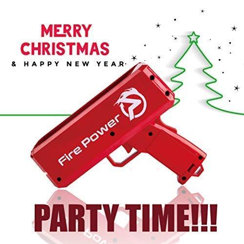 FI-PO Money Gun Christmas Cash Party - Make It Rain Fake Cash Gun Launch Gun Toy Gift Funny Party Game Fake Money by FI-PO